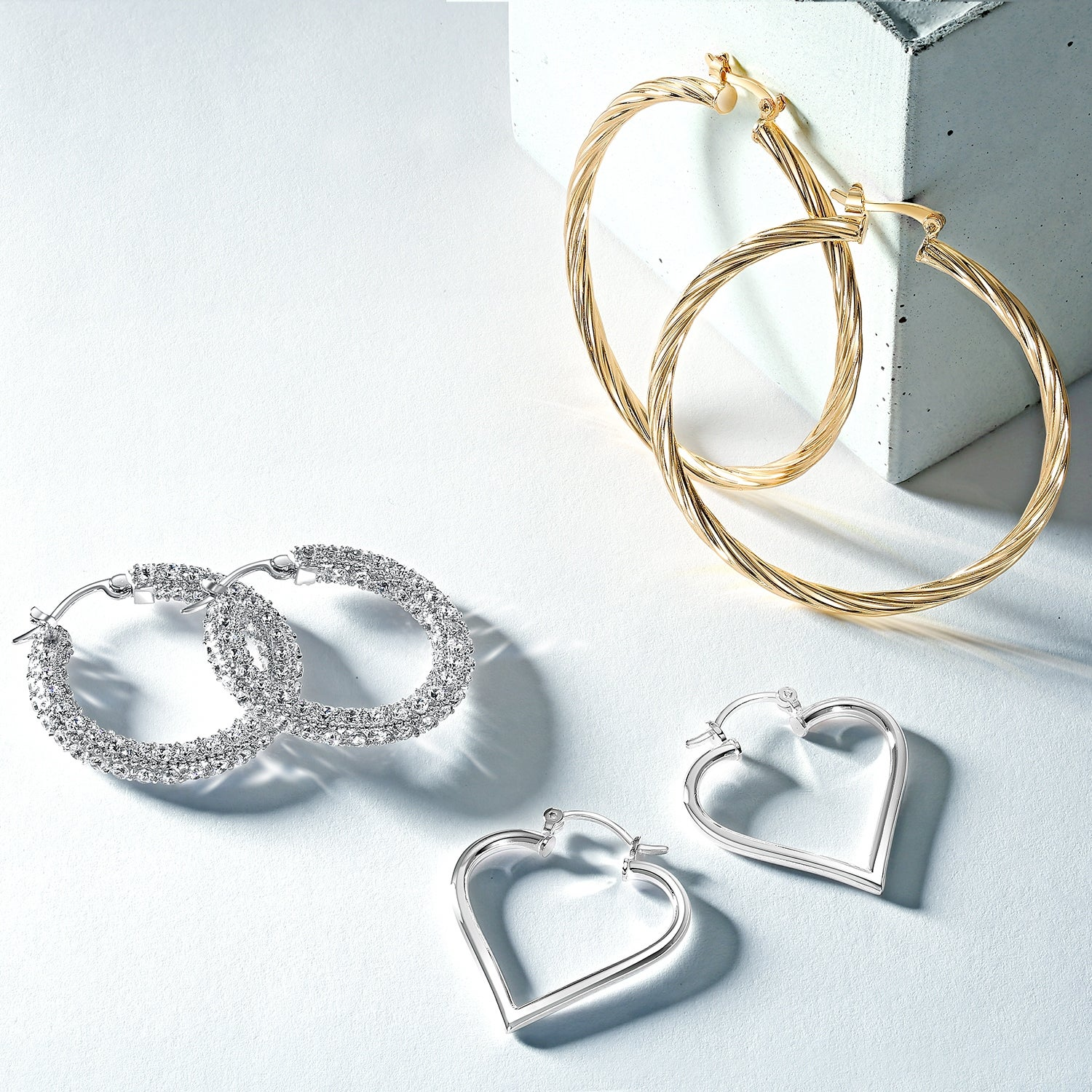 3f851154e5 Shop Large Heart Shaped Tube Big Hoop Earrings For Women Teen 925 Sterling  Silver Hinged Notched Post - On Sale - Free Shipping On Orders Over  45 ...