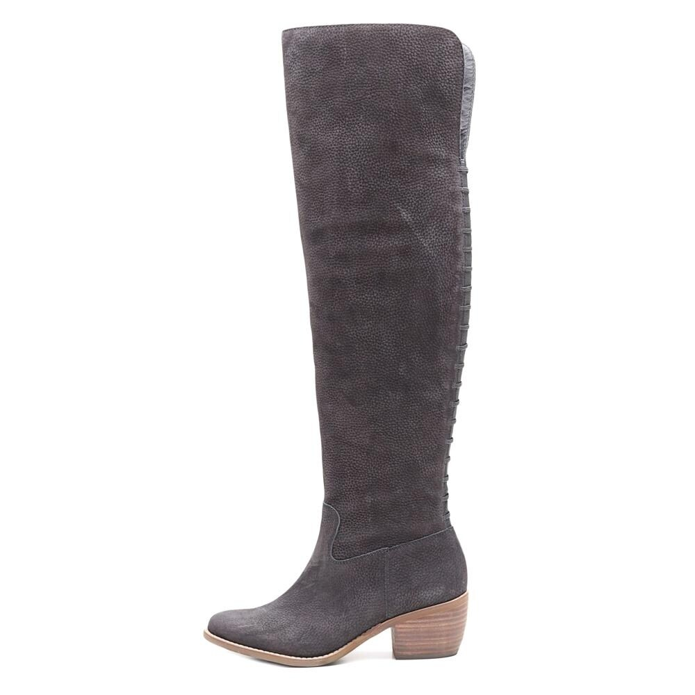3bf77f62f3f Shop Lucky Brand Khlonn Women Round Toe Leather Black Over the Knee Boot -  Ships To Canada - Overstock - 18057049