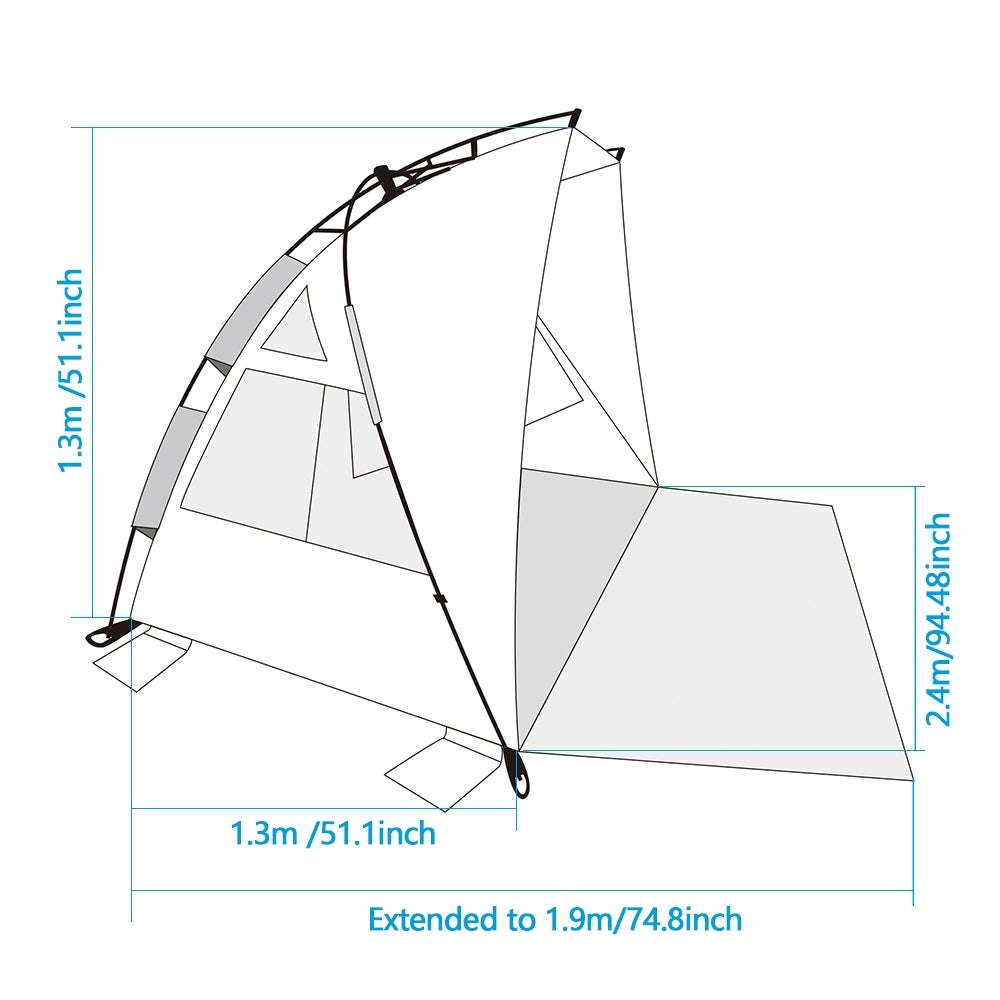 shop odoland beach tent pop up sun shelter upf 50 sun protection Coleman Instant Pop-Up Tent shop odoland beach tent pop up sun shelter upf 50 sun protection polyester tent extend size 94 x78 free shipping today overstock 18573241