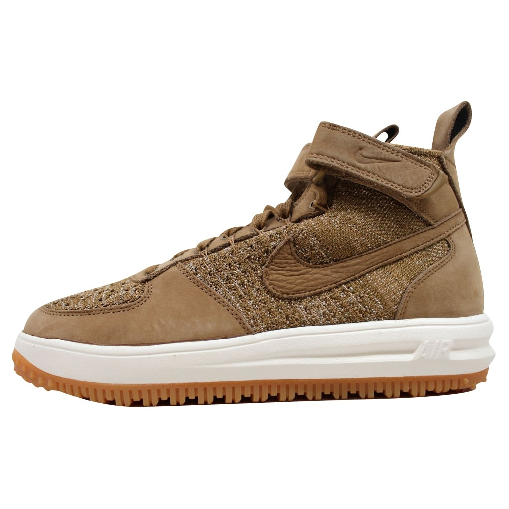 premium selection afb42 1e0df Shop Nike Men s Lunar Force 1 Flyknit Workboot Golden Beige Sail-Olive Flak  855984-200 - Free Shipping Today - Overstock - 19739988