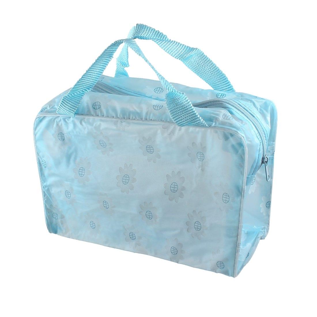 Shop Unique Bargains Sunflower Pattern Portable Zippered Shower Bag ...