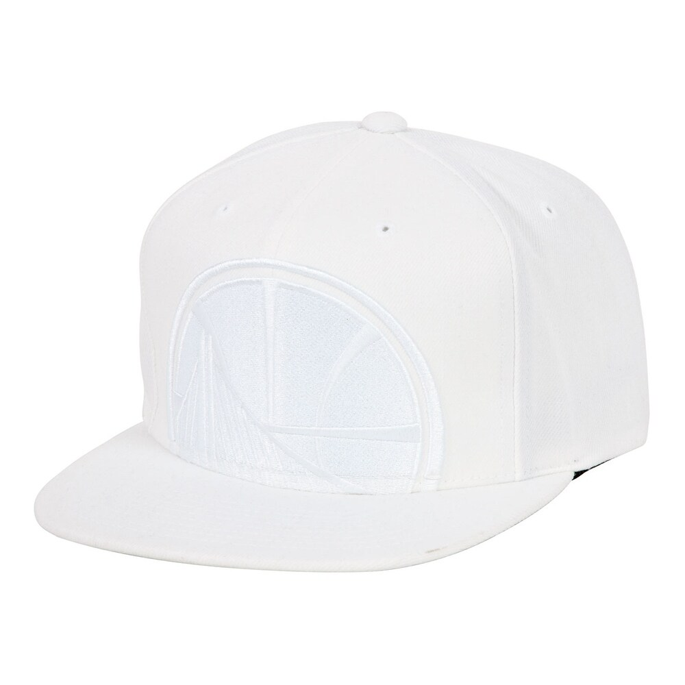93c089a68f0212 Mitchell & Ness Cropped XL Logo Snapback - Golden State Warriors - White