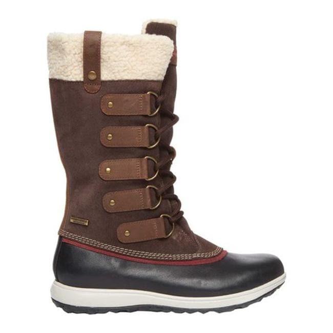 Shop Rockport Women S Xcs Britt High Winter Boot Brown Leather