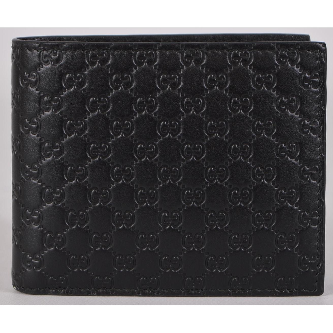 e53aec09693435 Shop Gucci Men's 260987 Black Leather MICRO GG Guccissima Bifold ...