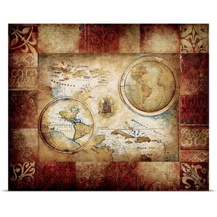 Pied piper poster print entitled new world map free shipping on pied piper poster print entitled new world map gumiabroncs Gallery