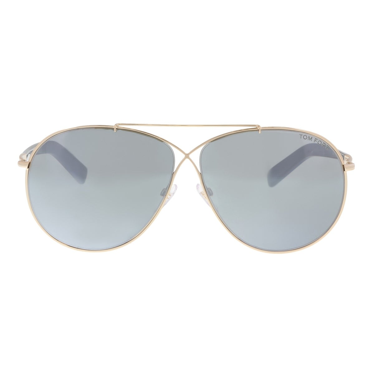 d863924a0cdd Shop Tom Ford FT0374 S 28Q Eva Gold Aviator Sunglasses - 61-10-140 - Free  Shipping Today - Overstock - 19518828