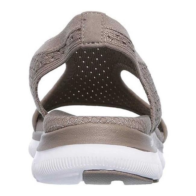 77b75e90448b Shop Skechers Women s Flex Appeal 2.0 Deja Vu Slingback Sport Sandal Taupe  - Free Shipping Today - Overstock - 19530567