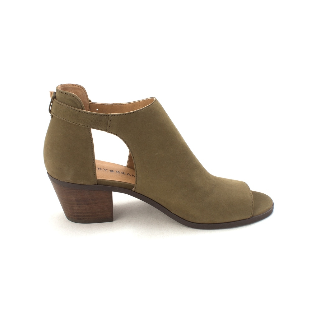 b1745ff841a3 Shop Lucky Brand Womens barimo Leather Peep Toe Ankle Fashion Boots - Free  Shipping Today - Overstock - 21384880