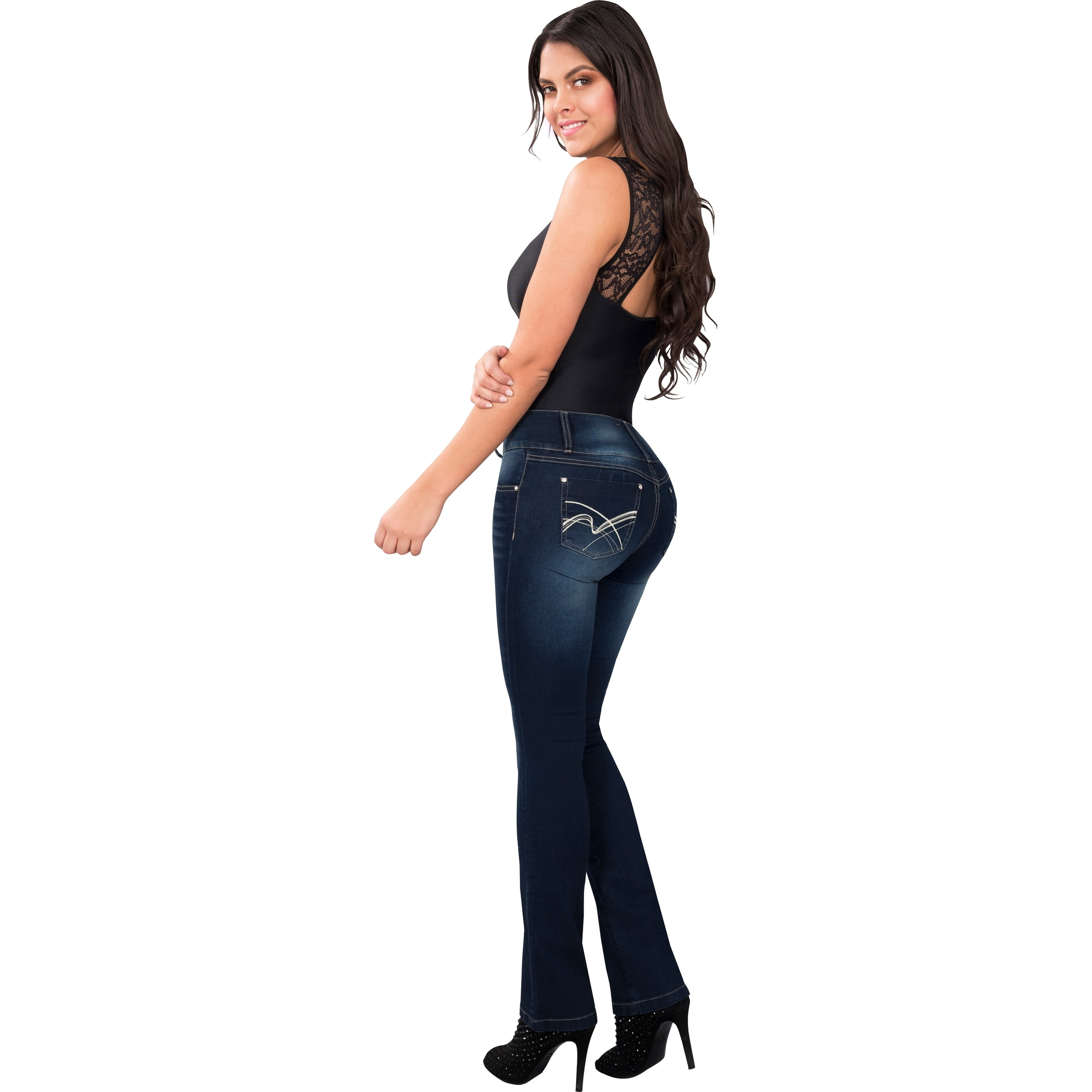 c92044dfce Butt Lifter Fashion Skinny Jeans High Rise Waist Push Up Authenthic Levanta  Cola Colombianos Blue 502GR by Fiorella Shapewear