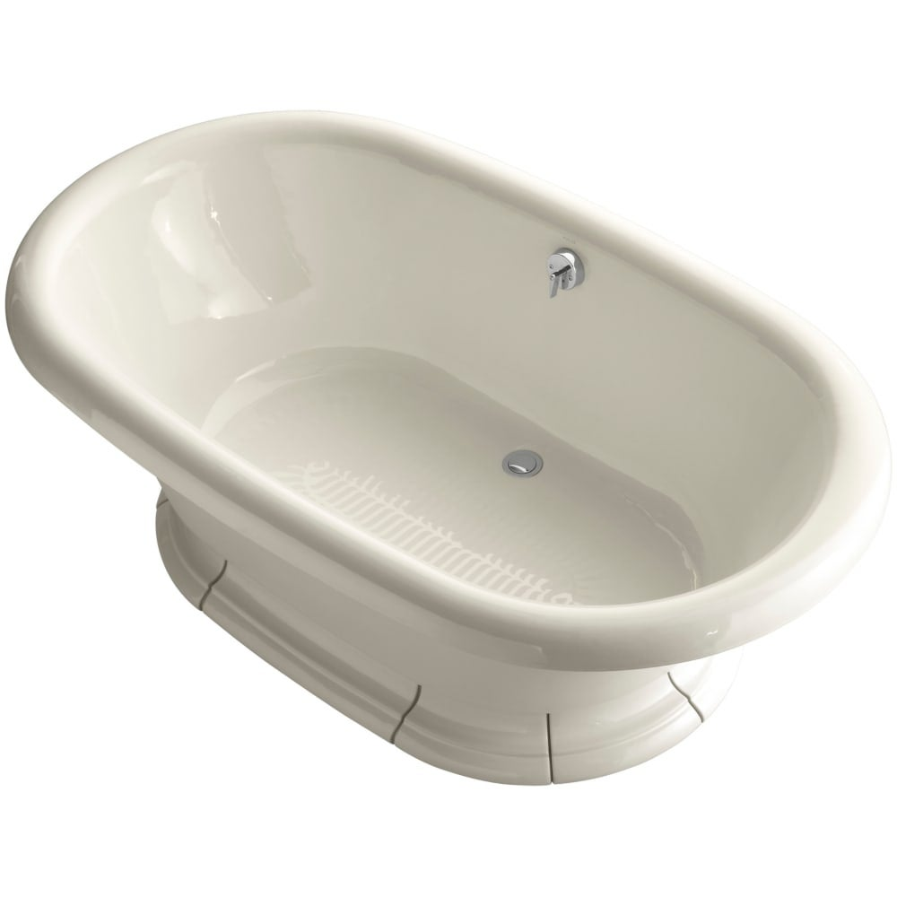 Kohler K 700 Vintage Collection 72 Free Standing Bath Tub For Two Person Bathing With Center Drain White Shipping Today
