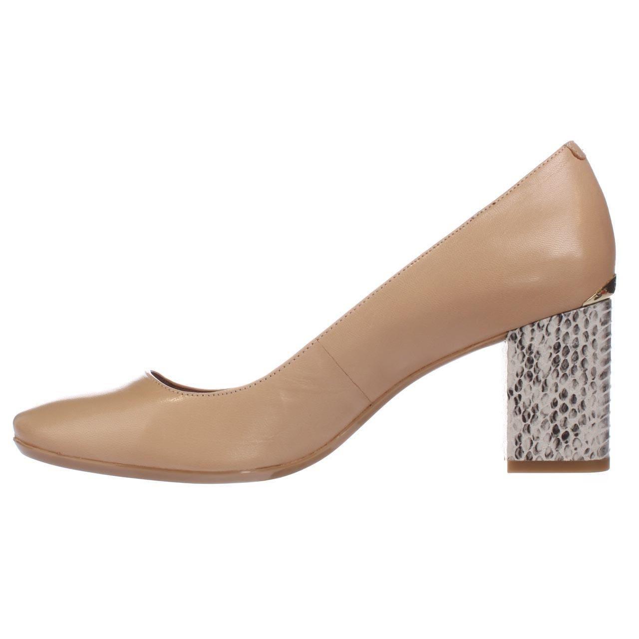 e244f87351 Shop Calvin Klein Cirilla Block Heel Pumps, Sandstorm - 9.5 us / 39.5 eu -  Free Shipping Today - Overstock - 21727628