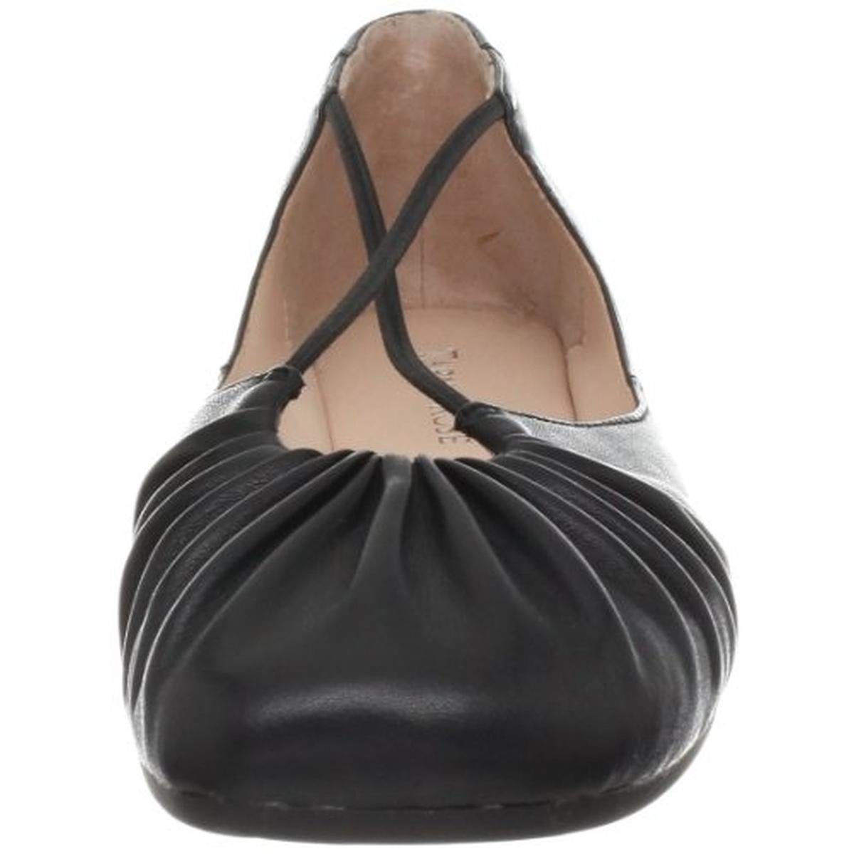 f906b88d14a Shop Taryn Rose Womens Bryan Ballet Flats Faux Leather Ruched - Free  Shipping Today - Overstock.com - 21480673