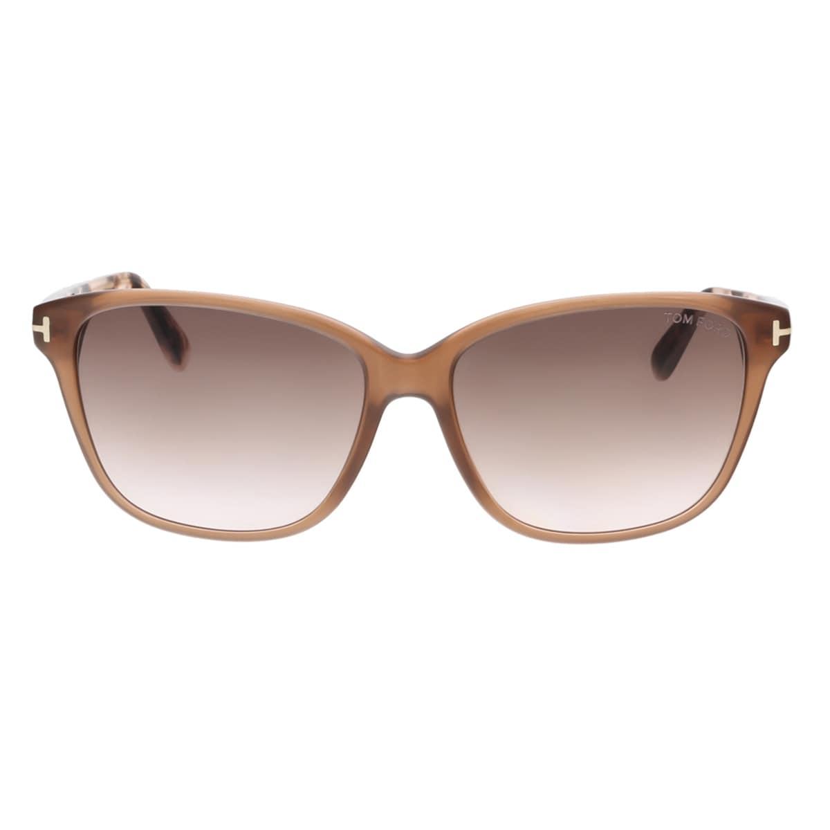 e512b0d587a4e Shop Tom Ford FT0432 45F DANA Brown Rectangular Sunglasses - 59-15-140 -  Free Shipping Today - Overstock - 15408947