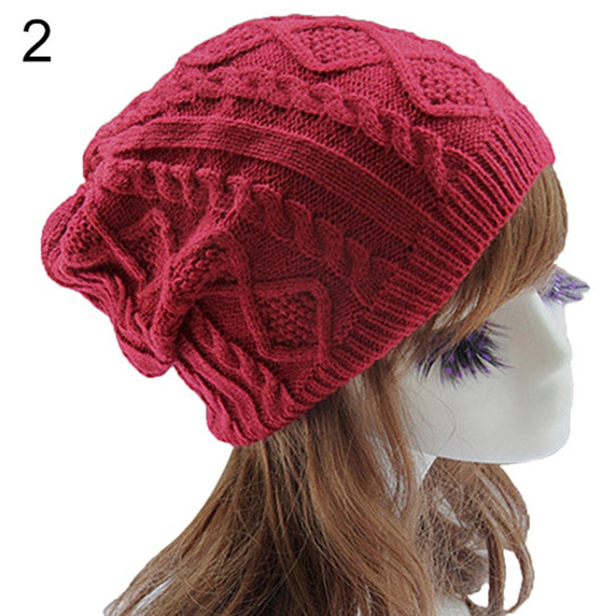 651161e0872 Shop Lady Women s Knit Winter Warm Crochet Hat Braided Baggy Beret Beanie  Cap - On Sale - Free Shipping On Orders Over  45 - Overstock - 23172784