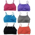 Women's 6 Pack Seamless Mesh Out Athletic Sports Yoga Bralettes