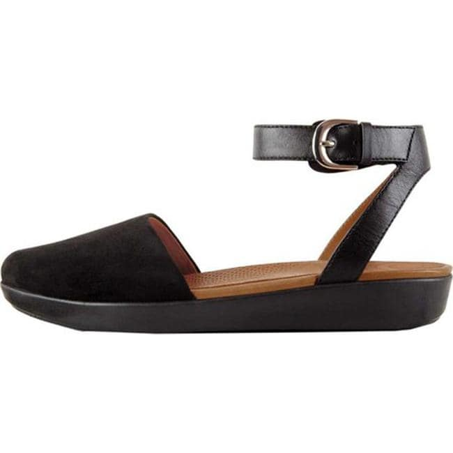 ebfdcd9d7 Shop FitFlop Women s Cova Closed Toe Sandal Black Suede - Free Shipping  Today - Overstock - 22863573