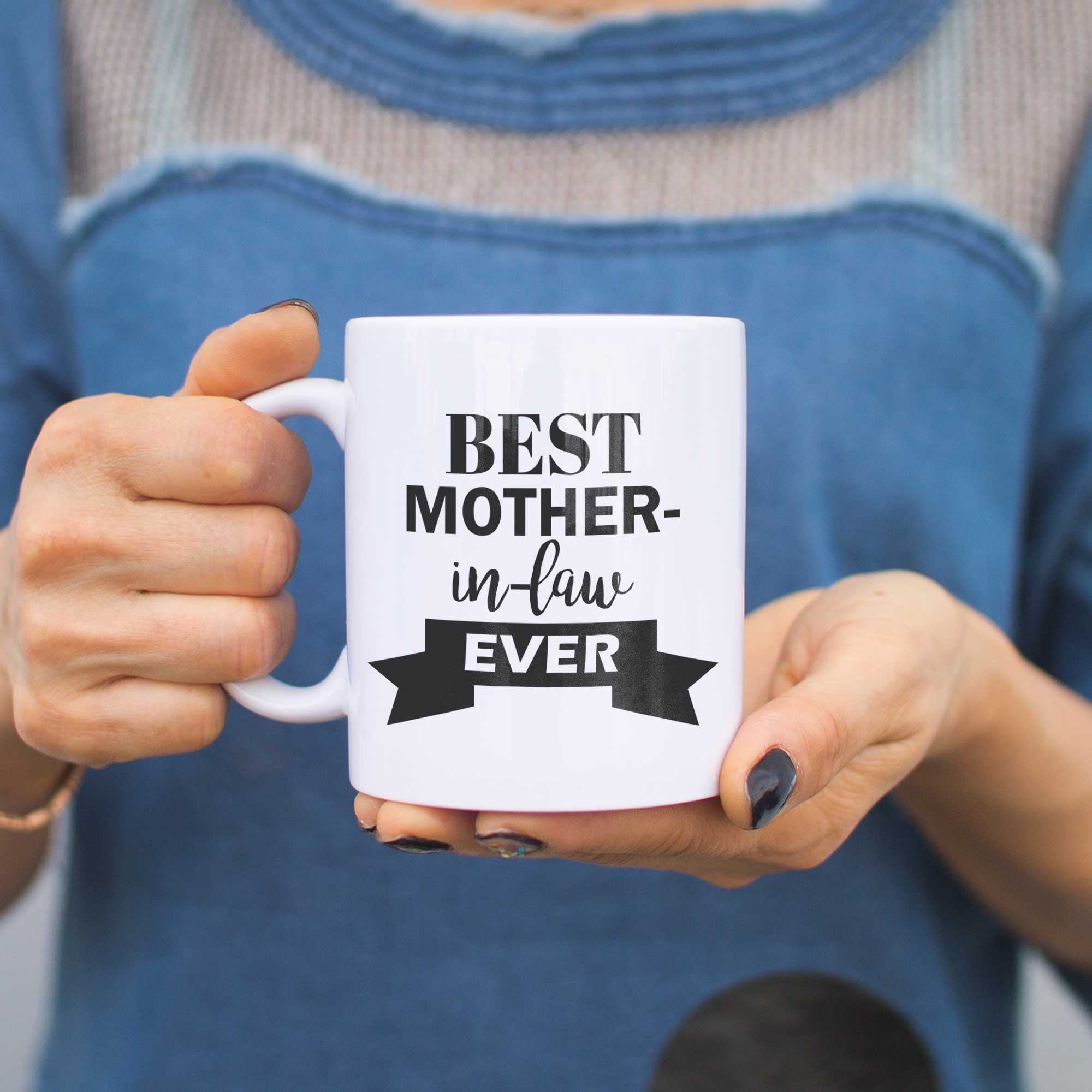 Shop Best Mother In Law Ever Mug Cup Mothers Day Or Christmas Gifts ...