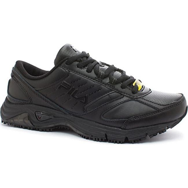 210798c329 Fila Women's Memory Flux Slip Resistant Black/Black/Black