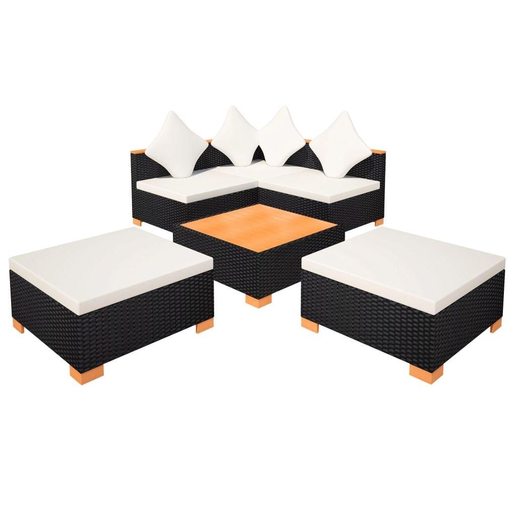 650d7bfe664e Shop vidaXL Garden Sofa Set 15 Pieces Wicker Poly Rattan WPC Outdoor Lounge  Seat - Free Shipping Today - Overstock - 20061909