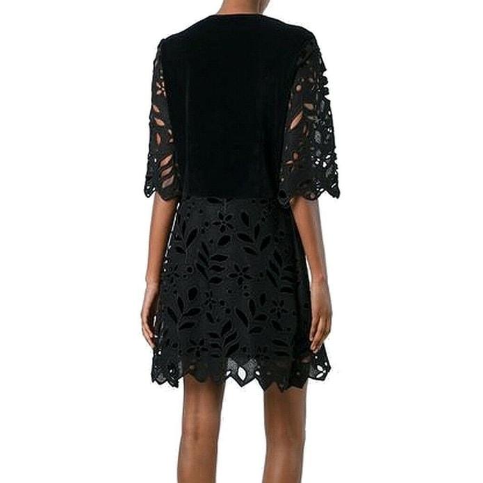 d12dabeb5b See by Chloe Black Womens Size 34 US 2 Floral Cutout Shift Dress