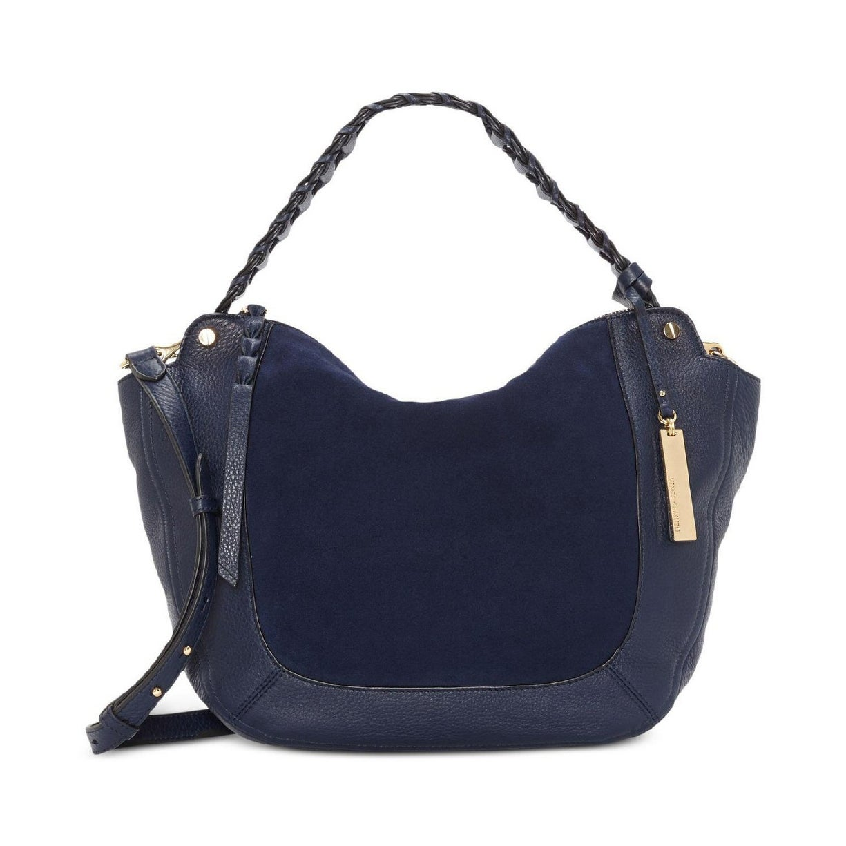 048eba9d51 Shop Vince Camuto Luela Small Leather Shoulder Bag Winter Navy ...