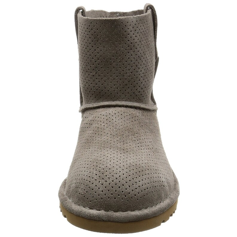 309391f41f5 Ugg Womens Classic Unlined Mini Perforated Leather Closed Toe Ankle...