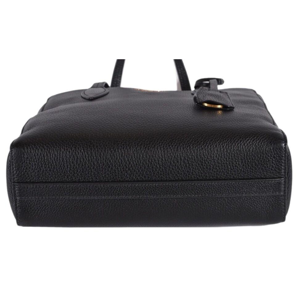 Shop Prada 1BG112 Vitello Phenix Black Pebbled Leather Shoulder Bag Tote  Purse - Free Shipping Today - Overstock - 26235142 6e326f4f3cd8f