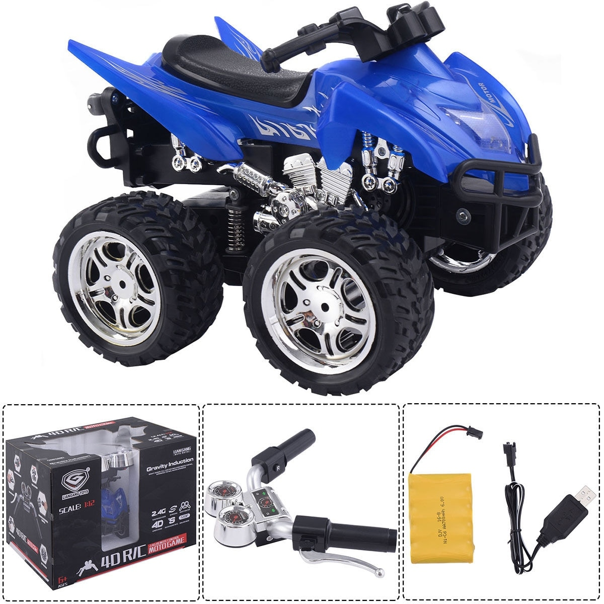 Shop Costway1 12 Scale 24g 4d R C Simulation Atv Remote Control Car Circuit Best Kids Toys Motorcycle Blue Free Shipping On Orders Over 45
