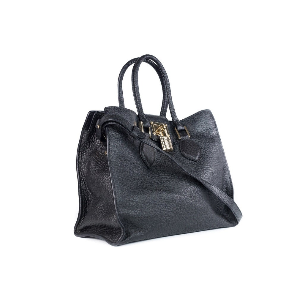17fa0d8b2e730b Shop Roberto Cavalli Womens Black Leather Medium Florence Bag - M - Free  Shipping Today - Overstock - 18022976