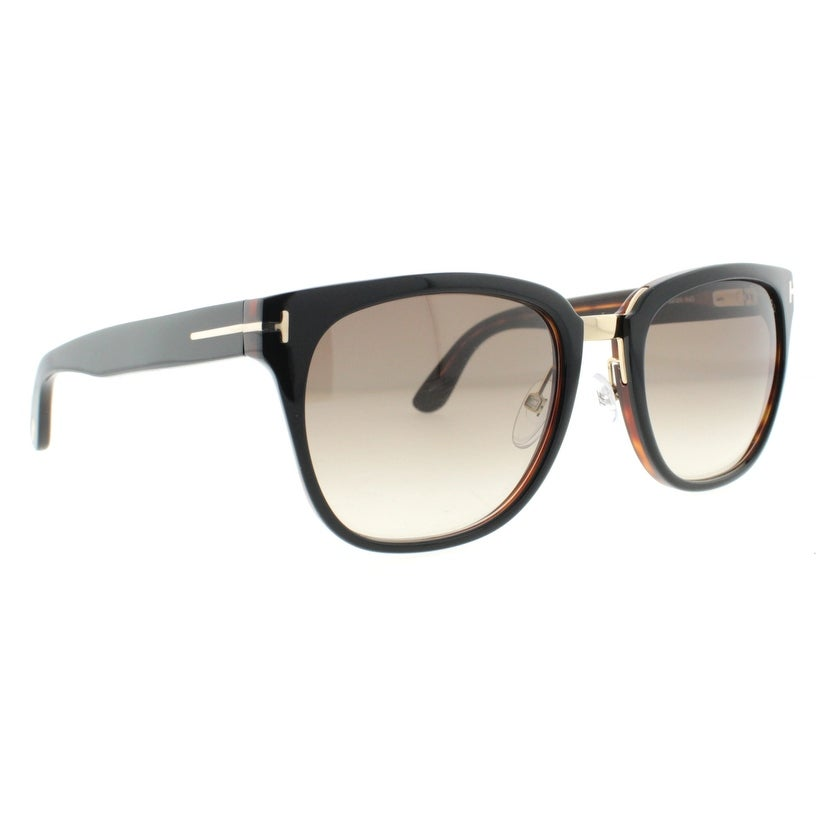 1af9696a5aa Shop Tom Ford Rock TF 290 01F 55mm Dark Havana Brown Gradient Unisex Square  Sunglasses - Dark Havana - 55mm-20mm-145mm - Free Shipping Today -  Overstock - ...