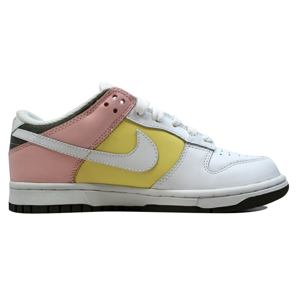 Shop Nike Women s Dunk Low White White-Lemon-Light Coral 317813-112 - Free  Shipping Today - Overstock.com - 20139506 62985abde5
