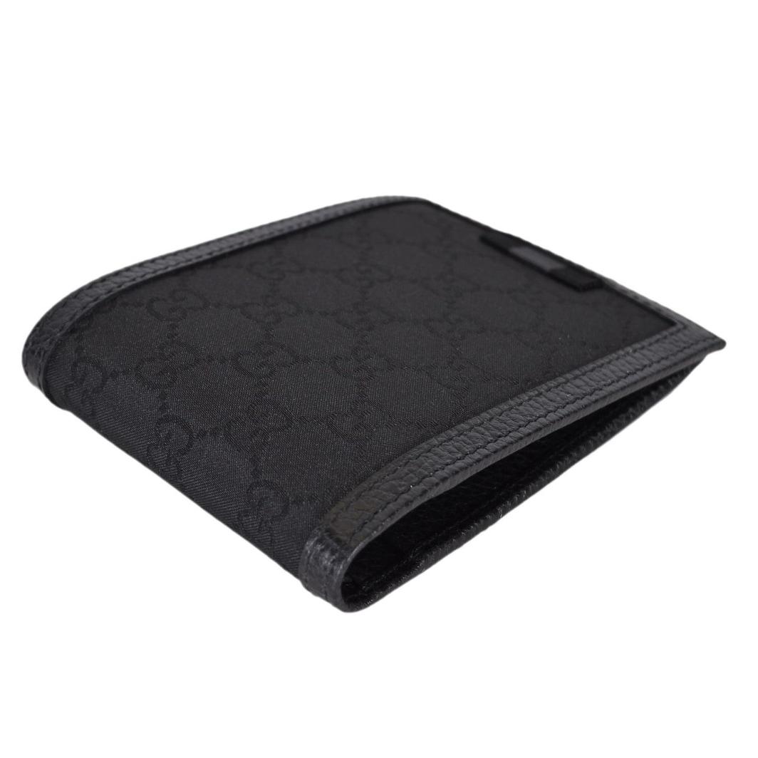 586386f4e1be Shop Gucci Men's 278596 Black Canvas Web Tab GG Guccissima Bifold Wallet -  5