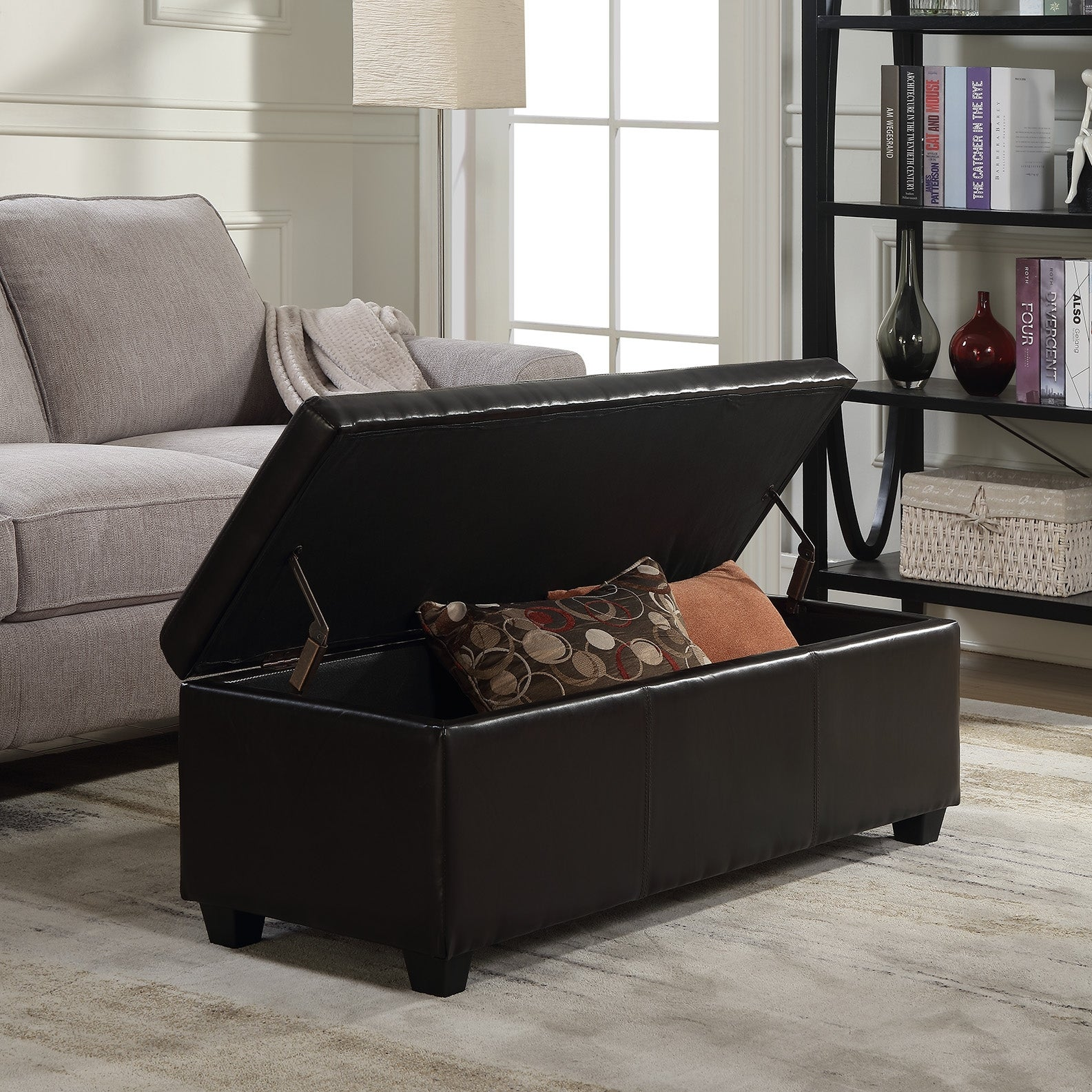 Belleze Modern Elegant Ottoman Storage Bench Living Bedroom Room Home