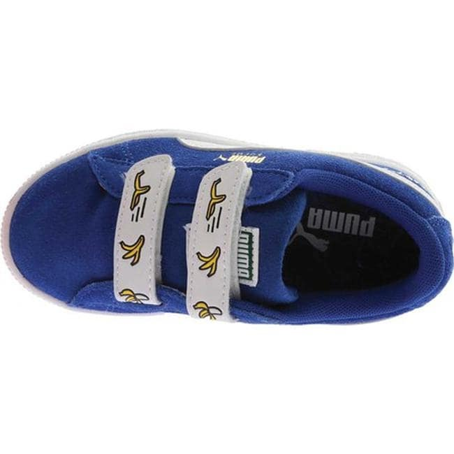 ede6b1f775d9 Shop PUMA Children s Minions Suede V PS Sneaker Olympian Blue PUMA White -  Free Shipping On Orders Over  45 - Overstock - 20254453