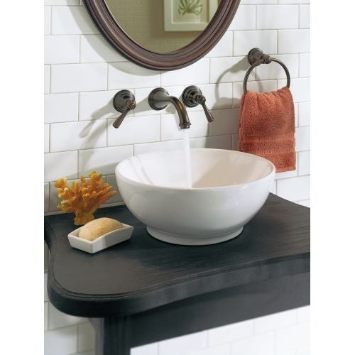 Moen T6107 Double Handle Wall Mounted Bathroom Faucet from the Kingsley Collection - Free Shipping Today - Overstock - 22730336