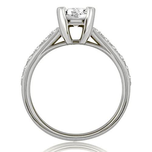 Shop 1 15 Cttw 14k White Gold Cathedral Princess Cut Diamond Bridal