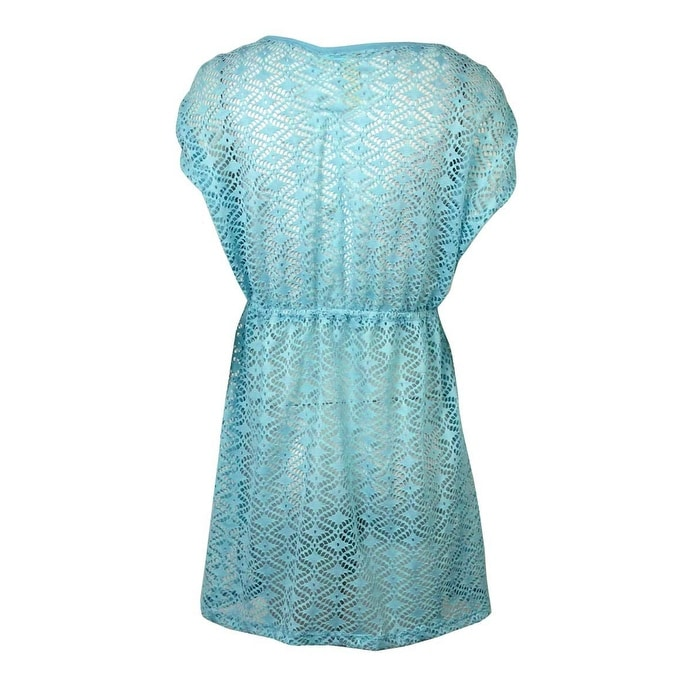 c791fc1ac8265 Shop Miken Women s V-Neck Crochet Dress Swimsuit Cover Up(XS