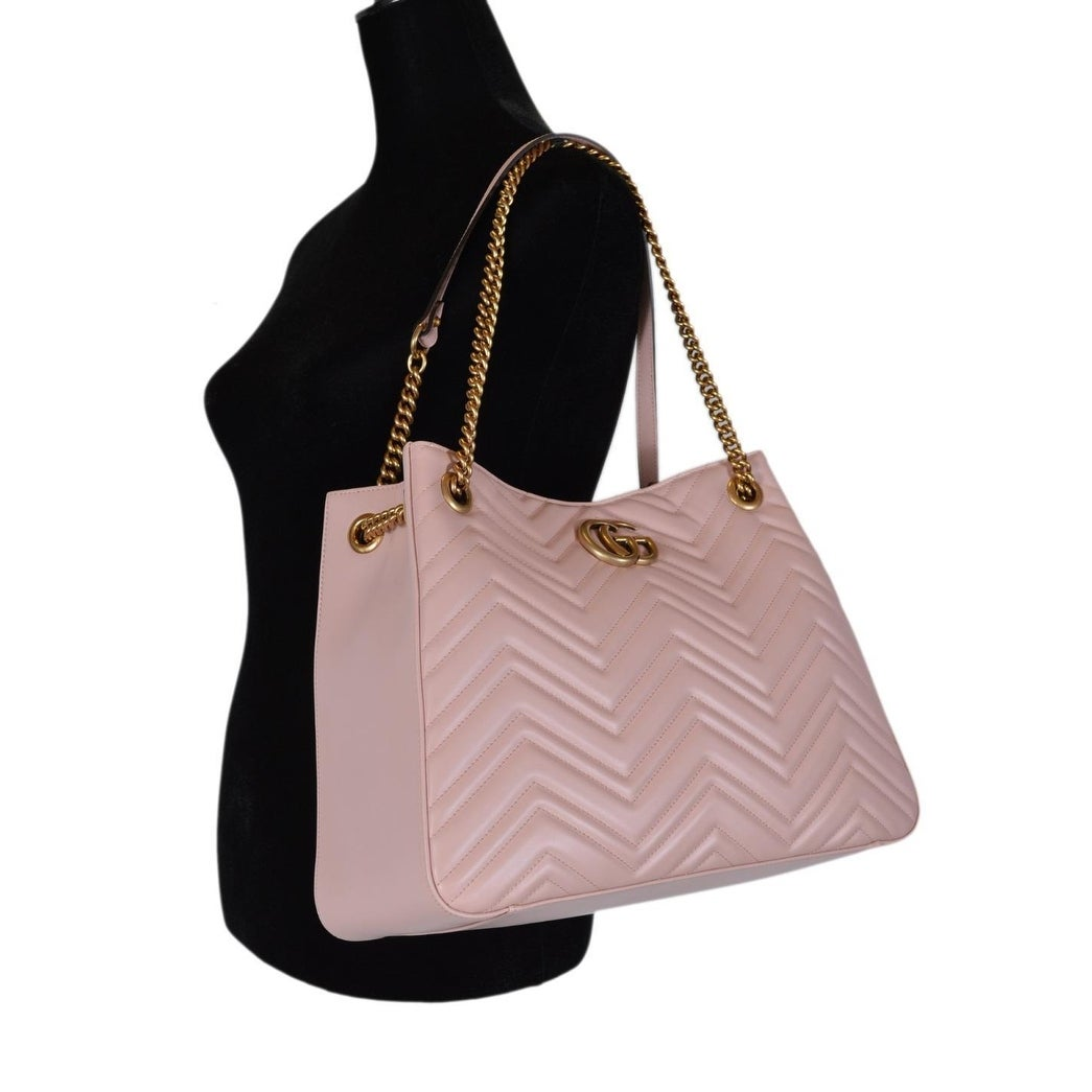 Shop Gucci Pink Chevron Leather Marmont GG Tote Purse Shoulder Bag - On  Sale - Free Shipping Today - Overstock - 25461564 9b95b6eccfd50