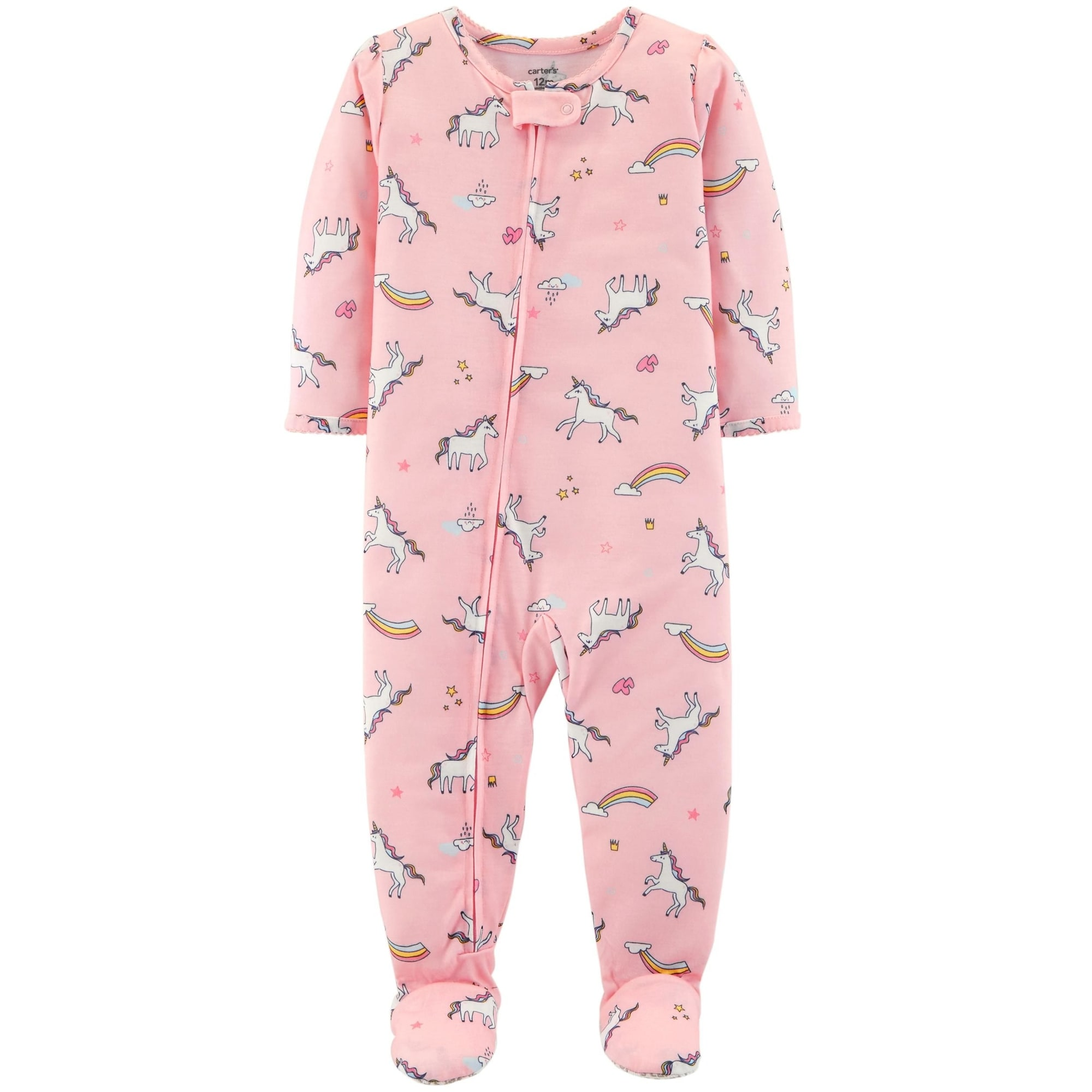 79a353600e4b Shop Carter s Baby Girls  1 Pc Comfy Fit Poly Unicorn Rainbow Footed ...