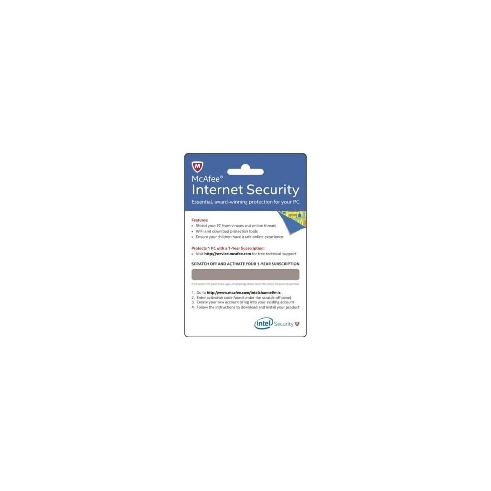 Intel McAfee Internet Security Activation Key BKCMIS1YRENG McAfee Internet  Security Card