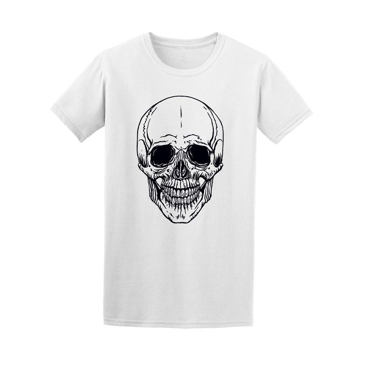 Shop Human Skull Front View Tee Mens Image By Shutterstock Free