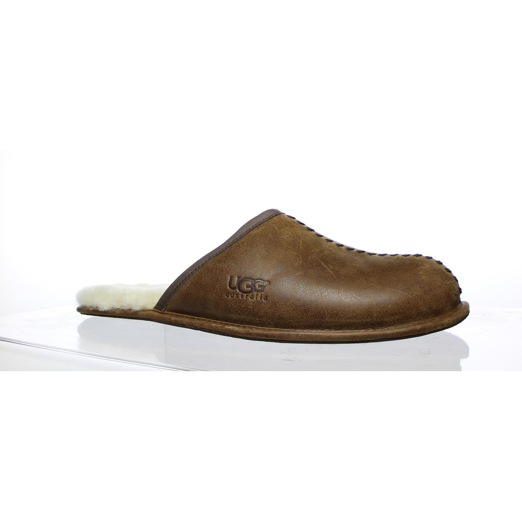 571a298c3a0 UGG Mens Scuff Deco Chestnut Mule Slippers Size 18