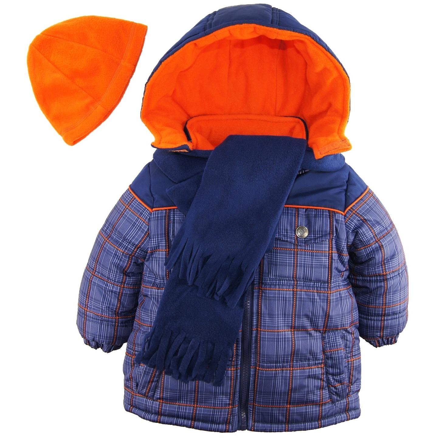 e065206b7 Shop iXtreme Toddler Boys Plaid Expedition Puffer Winter Coat Fleece ...