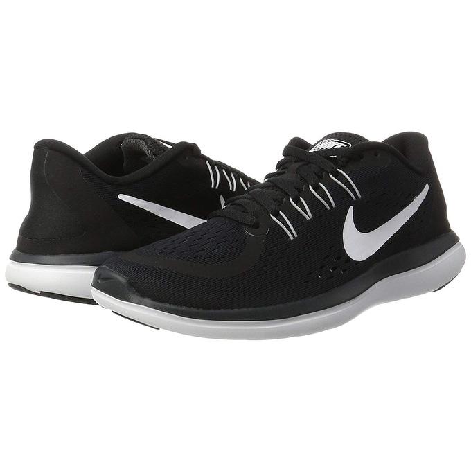 sale retailer 73e82 15283 Shop Nike Women s Flex 2017 Rn Running Shoe, Black White Anthracite Wolf  Grey, 12 B(M) - Free Shipping Today - Overstock - 27121097