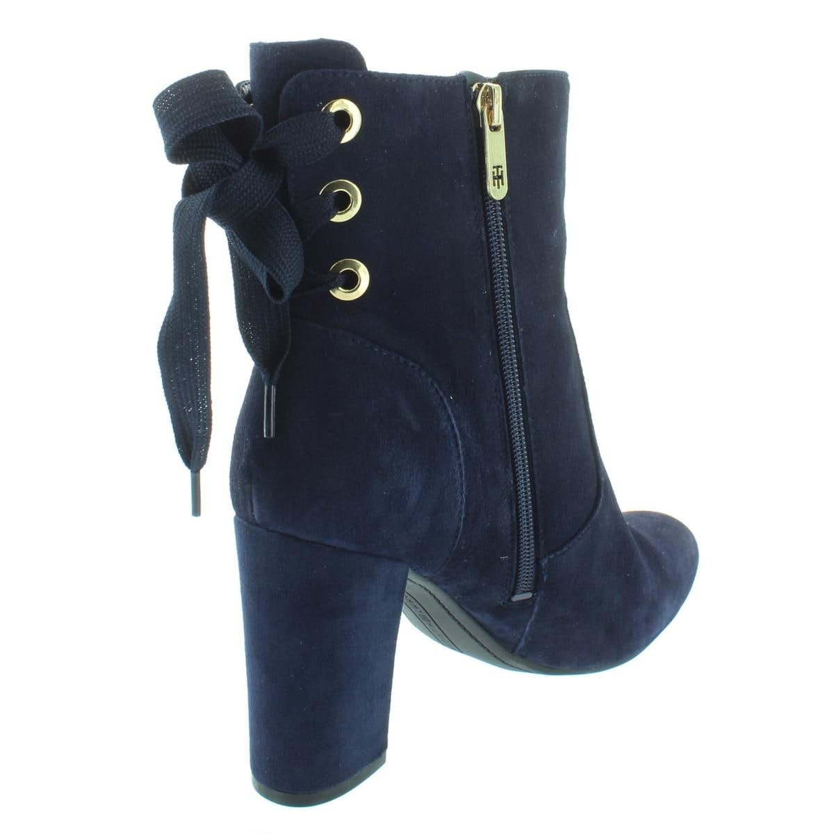 bb80d8f720ed Shop Tommy Hilfiger Womens Divah Ankle Boots Suede Lace-Up - Free Shipping  On Orders Over  45 - Overstock - 25442029