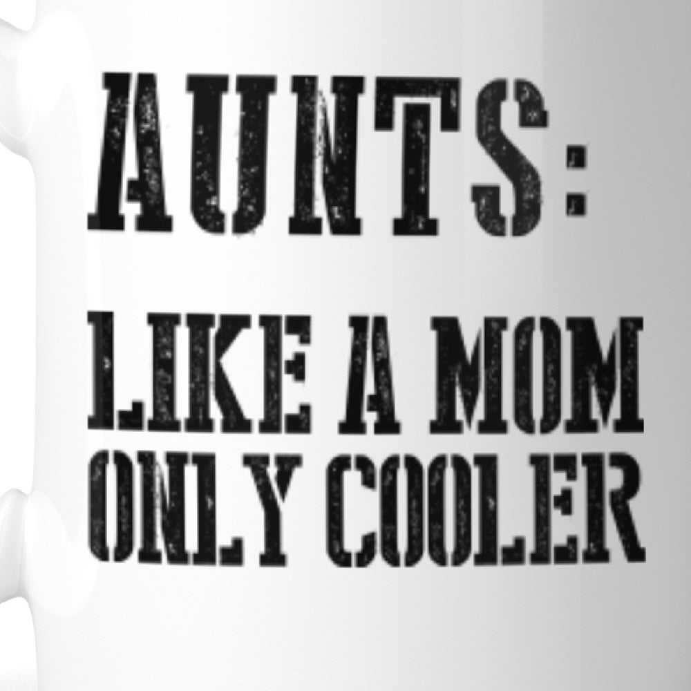 Shop Aunt Cooler Than Mom Mug Christmas Birthday Gift Idea For