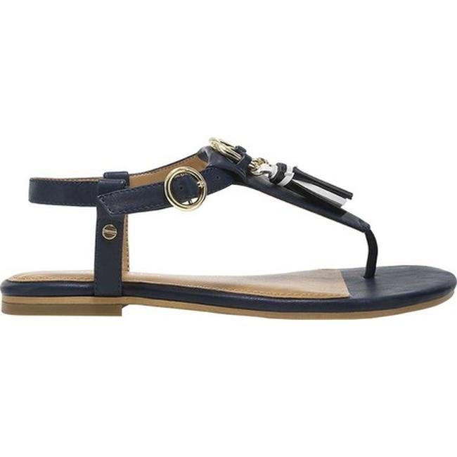 764d26085eb5 Shop Aerosoles Women s Short Circuit Flat Sandal Navy Faux Leather - Free  Shipping On Orders Over  45 - Overstock - 21152936