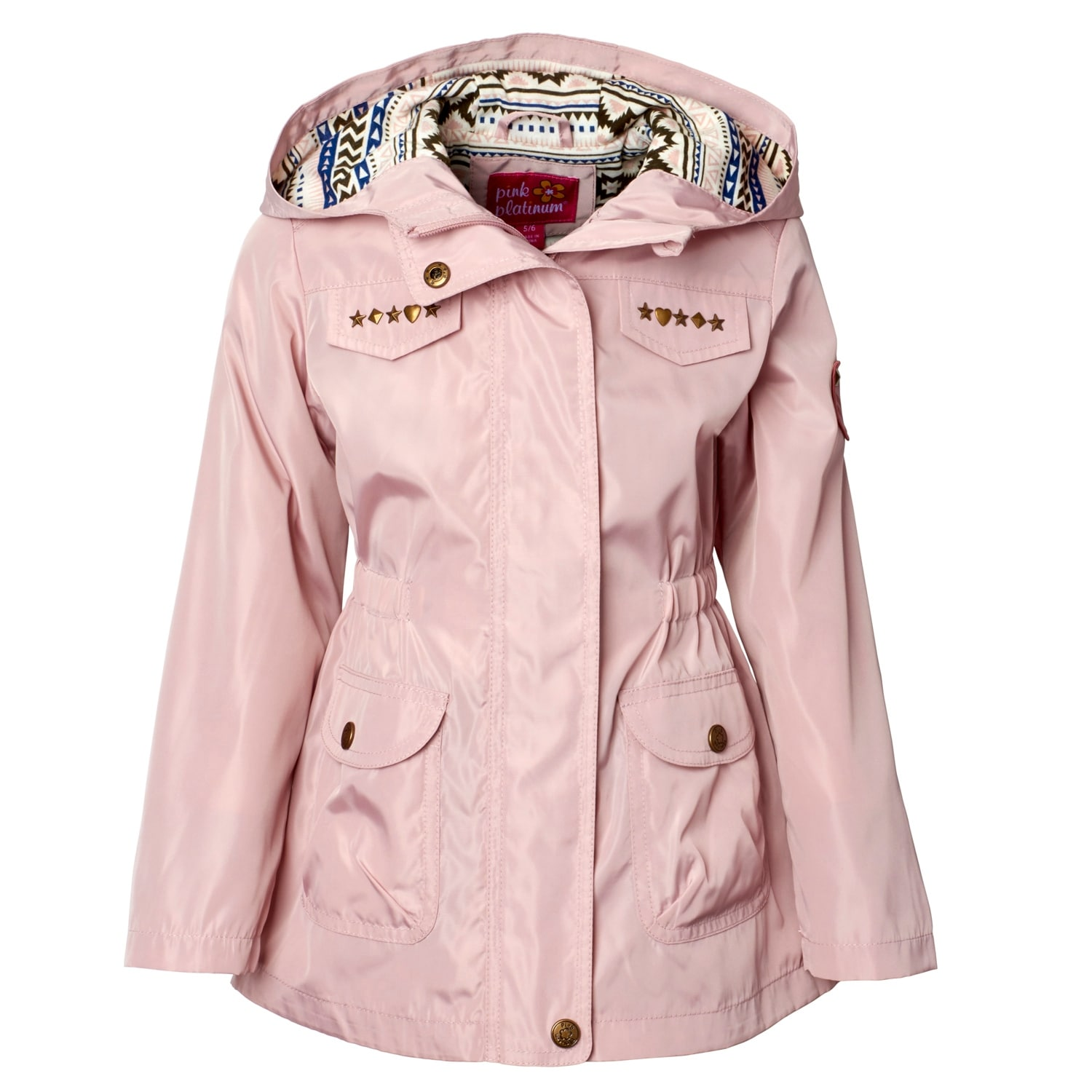 puffer com platinum ip lace girls walmart jacket pink