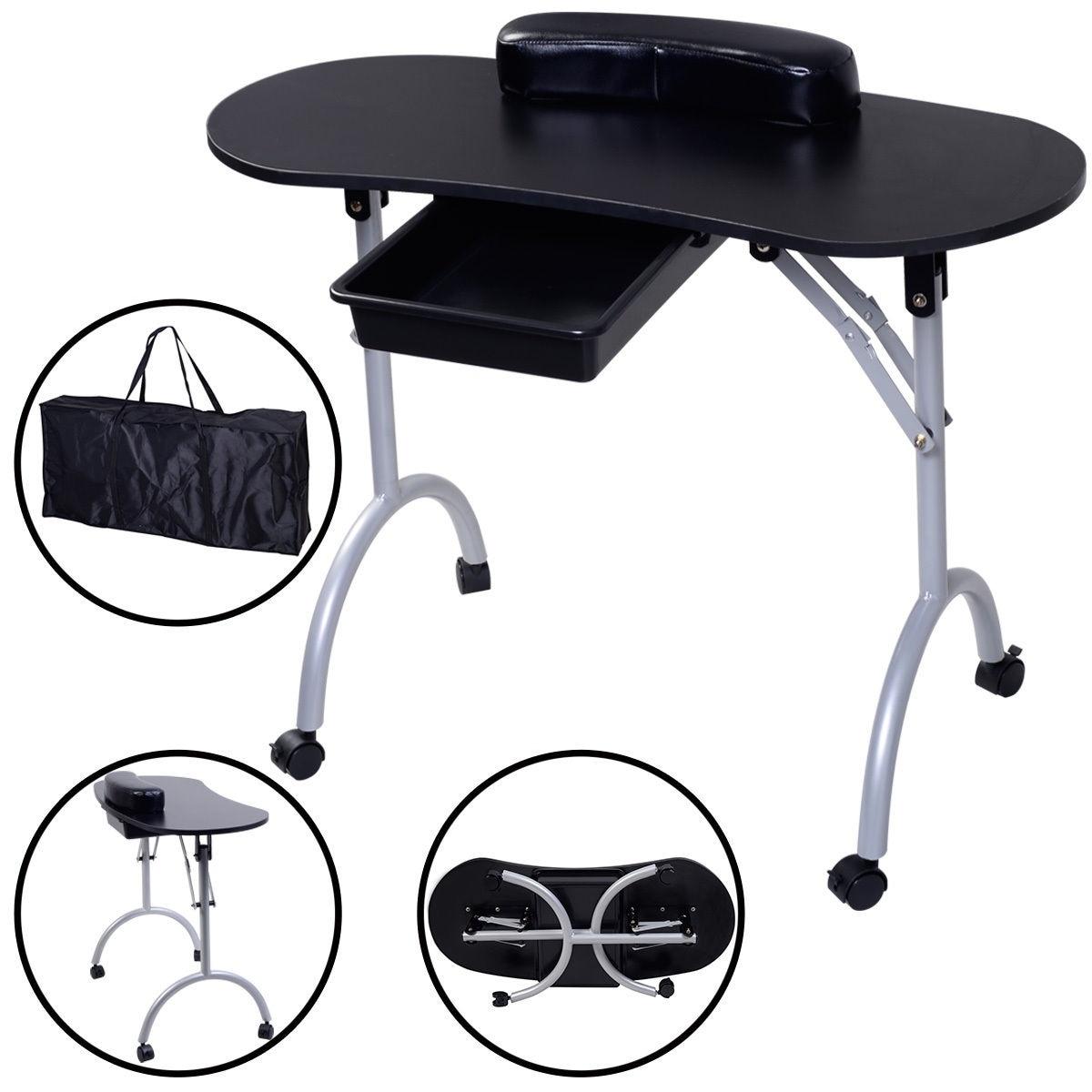 Shop Costway Portable Manicure Nail Table Station Desk Spa Beauty ...