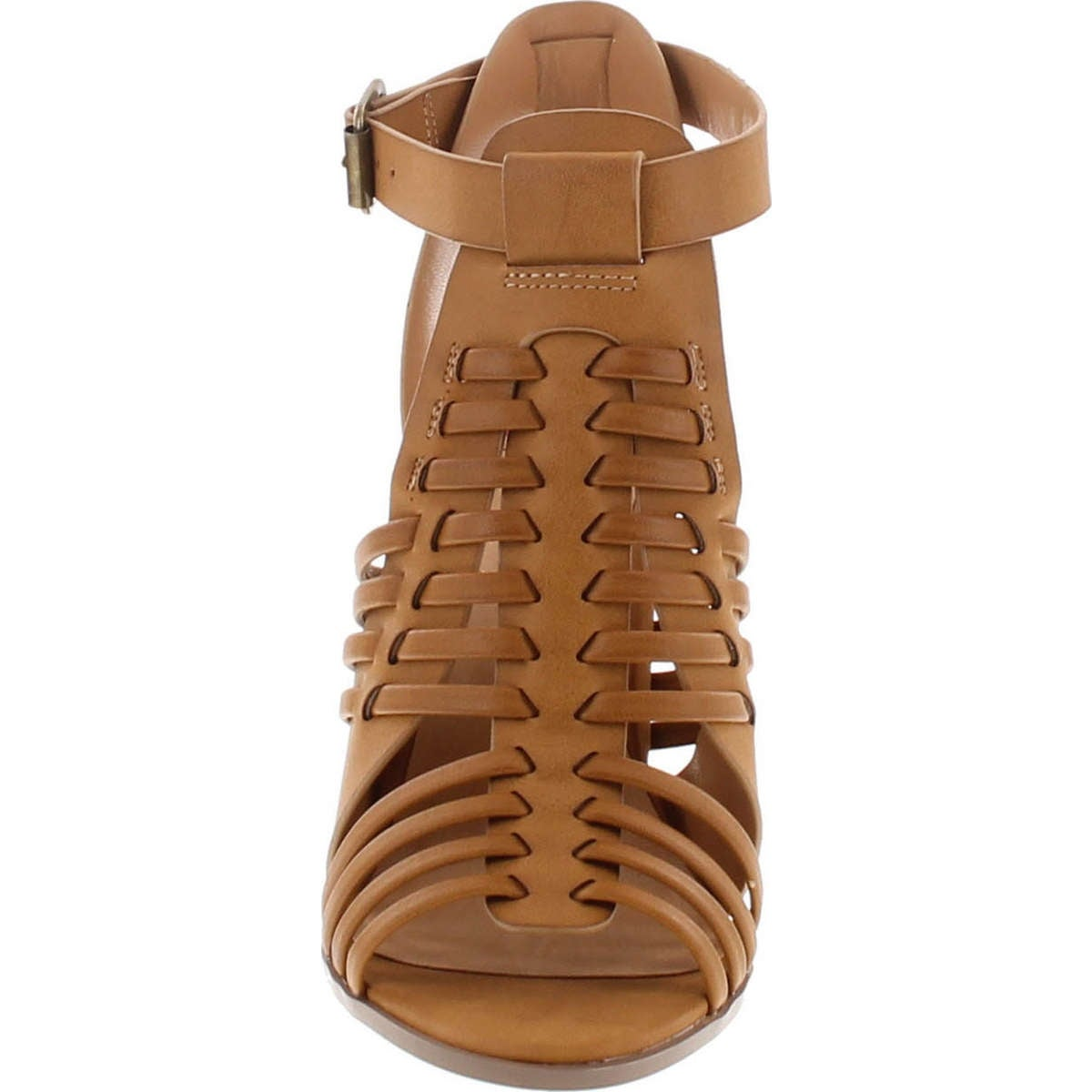 b05e4be6f4 Shop Delcious Women's Aliya Strappy Gladiator Open Toe Stacked Heel Sandal  - Free Shipping On Orders Over $45 - Overstock - 14756617